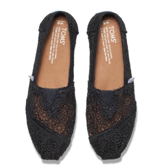 2dc0771a9c6 ️SALE‼️TOMS Black Slip on Shoes
